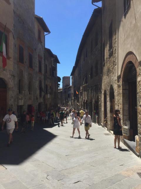 winding street san gimignano