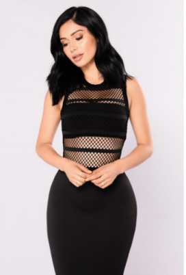 Spread The Word Fishnet Bodysuit - Black