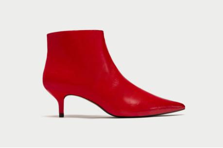 Zara Mid-Heel Ankle Boots
