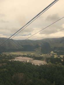 View of Mt. Fuji from the ropeway